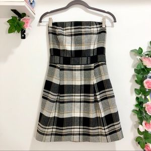 French Connection Plaid Mini Dress